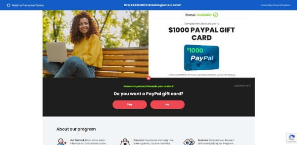 Get a $1000 PayPal Gift Card Now!