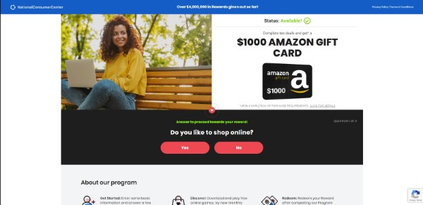 Get a $1000 Amazon Gift Card Now!