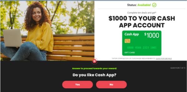 Get $1000 Sent to Your Cash App!