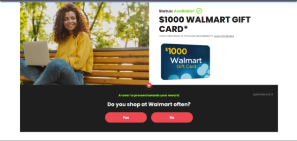 Get $1000 to Spend at Walmart!