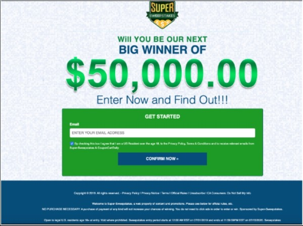 Enter the Super Sweepstakes Now!