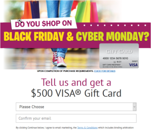 Get $500 to Spend on Black Friday!
