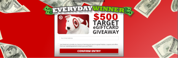 Get a $500 Target EGift Card!