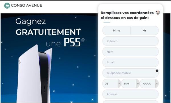 Obtenez une toute nouvelle Playstation 5! (FR) France